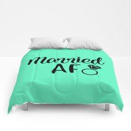 Married AF - Mint Comforters