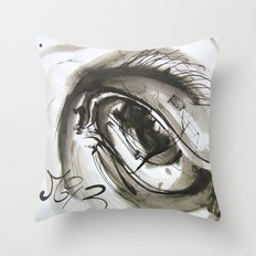 Time's Eye Throw Pillow