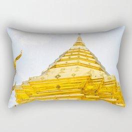 Golden Stupa Rectangular Pillow
