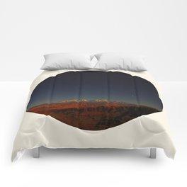 Grand Canyon Sunset Blue & Orange Colors Circle Photo Comforters