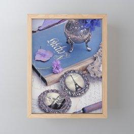 Vintage Blue Paris Framed Mini Art Print