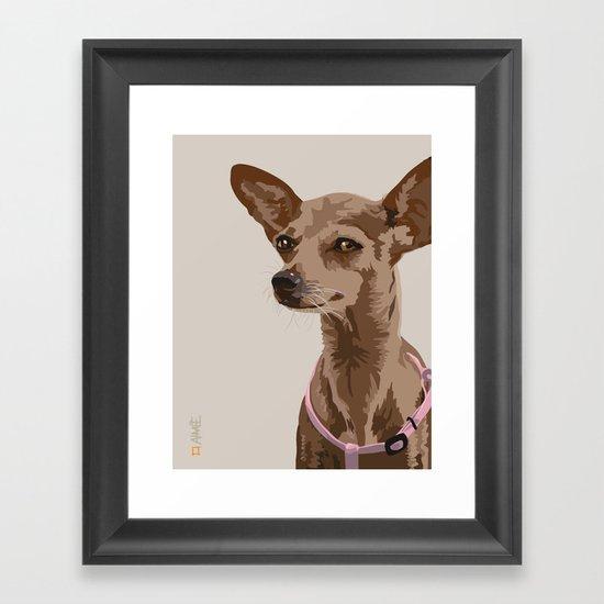 Macy the Chihuahua Dog Framed Art Print