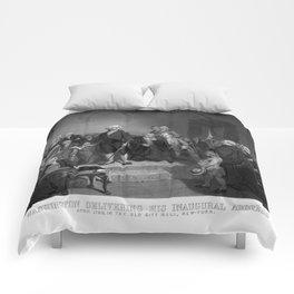 Washington Delivering His Inaugural Address Comforters