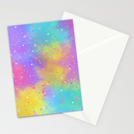 Colorful Art Design with Paint Splatter Ver.3 Stationery Cards