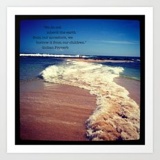 Two Oceans Meet Art Print