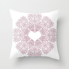 Love Lace Throw Pillow