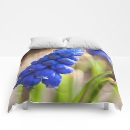 Grape Hyacinth Photography Print Comforters
