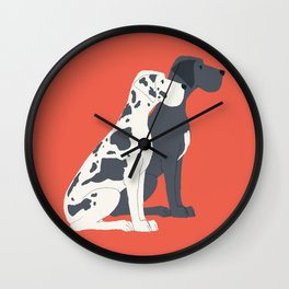 Great Dane Dog Illustration Wall Clock