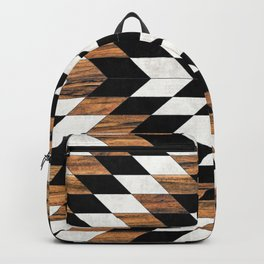 Urban Tribal Pattern No.13 - Aztec - Concrete and Wood Backpack