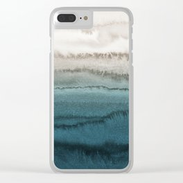 WITHIN THE TIDES - CRASHING WAVES TEAL Clear iPhone Case