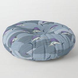 Swordfish Espadon   Pattern Art Floor Pillow