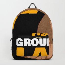 Crazy Groundhog Lady Woman Garden Tee Backpack