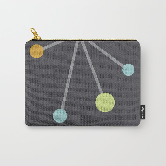 Mid Century Modern Atomic Age Pattern Carry-All Pouch
