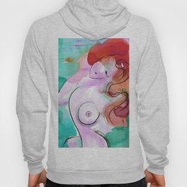 Abstract Nude Goddess 11h by Kathy Morton Stanion Hoody