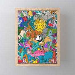 Animal Kingdom Framed Mini Art Print