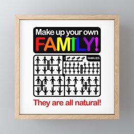 Make up your own family! Framed Mini Art Print