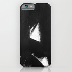 No. 92 - Modern abstract black and white textured painting iPhone 6s Slim Case