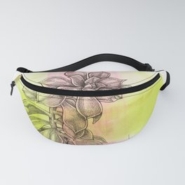 Succulent on Pink and Green Fanny Pack