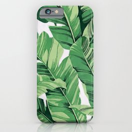 Tropical banana leaves V iPhone Case