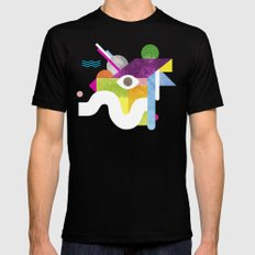 Mythical Float Rate. Black Mens Fitted Tee LARGE