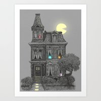 colour Art Prints featuring Haunted by the 80's by Terry Fan