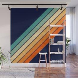 Farida - 70s Vintage Style Retro Stripes Wall Mural