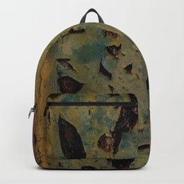 abstract metal pattern Backpack