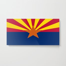 flag of Arizona, america,usa,Grand Canyon,Arizonan, desert,The Copper State,Phoenix,Tucson,Mesa Metal Print