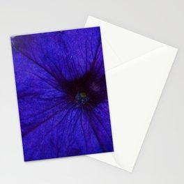 Blue Petunia Flower Macro Watercolor Stationery Cards
