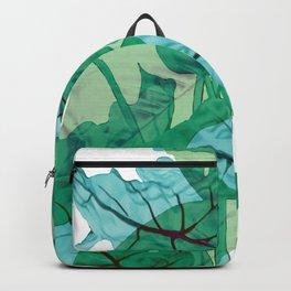 Big Leaves Jungle Watercolor green Design #leaves Backpack