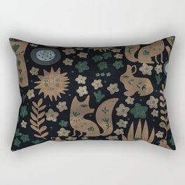Mystic Nightlife Elements Rectangular Pillow