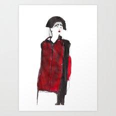 fashion illustration – Belle Sauvage A/W 2013 Art Print