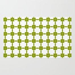 Minimalist Green Tiled Pattern Rug