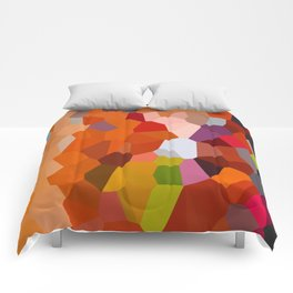 Pixelated Lanterns in Joy and Orange Comforters