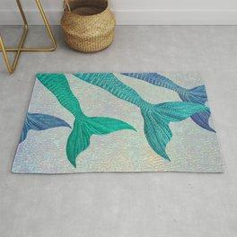 Glistening Mermaid Tails Rug