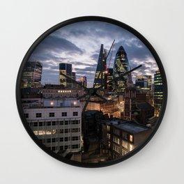 Sunset over London Wall Clock