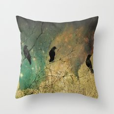 Retro Clouds Throw Pillow