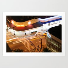 Miami Beach street lights Art Print