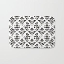 Damask Pattern | Black and White Bath Mat