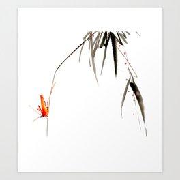 Chinese Shui-mo(水墨)- Grasshopper Art Print