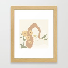 Sunflower Figure Abstract Framed Art Print