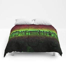 NYC Surreal Green Comforters