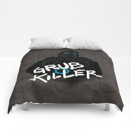Grub Killer (Blue) Comforters
