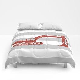 Red Excavator Comforters