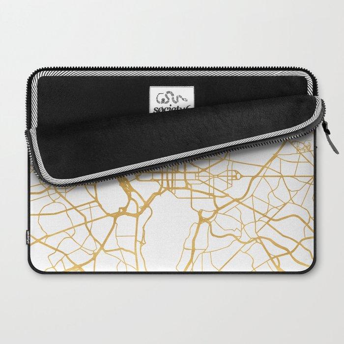 WASHINGTON D.C. DISTRICT OF COLUMBIA CITY STREET MAP ART Laptop Sleeve