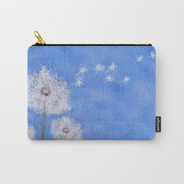 flying dandelion watercolor painting Carry-All Pouch