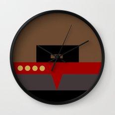 Captain Sisko - Minimalist Star Trek DS9 Deep Space Nine - Trektangle - Trektangles startrek Wall Clock