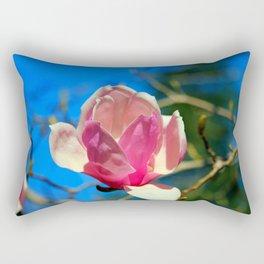 Magnolia Blossom In Pink Rectangular Pillow