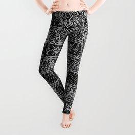 Satanic ugly sweater Leggings