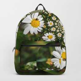 Magic Field Summer Grass - Chamomile Flower with Bug - Polarity #1 Backpack